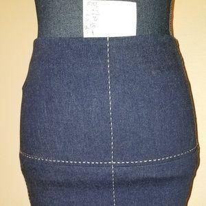 150 N W/O T sz 2 Poleci blue denim pencil skirt